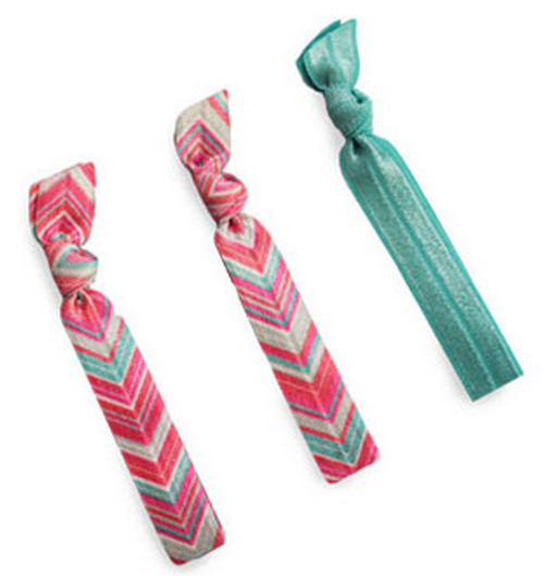 All For Color Chevron Hair Ties - Set of 3