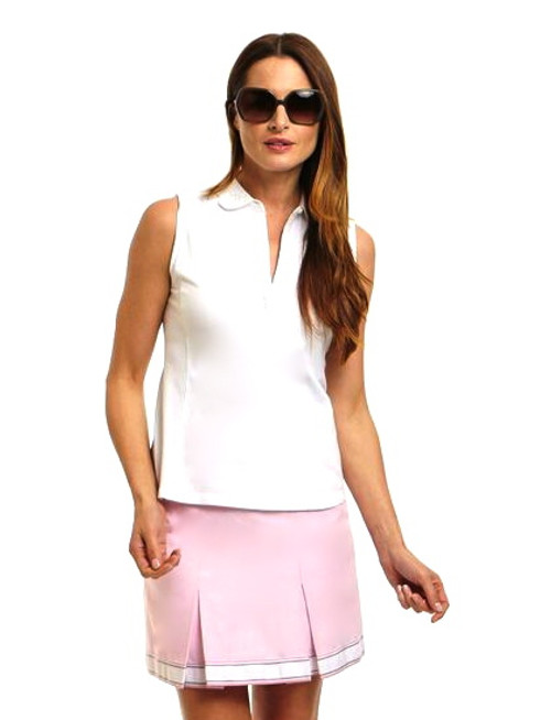 Golftini Cameo Pink Pleated Golf Skort