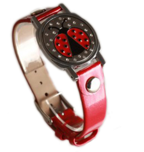 Ladybug Ball Marker Bracelet with Red Band