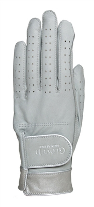 Glove It Signature Silver Suede Ladies Golf Glove - Size: Medium