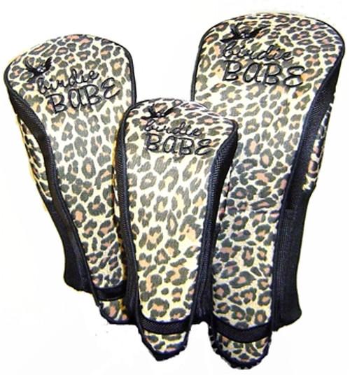 Birdie Babe Leopard Club Cover Set