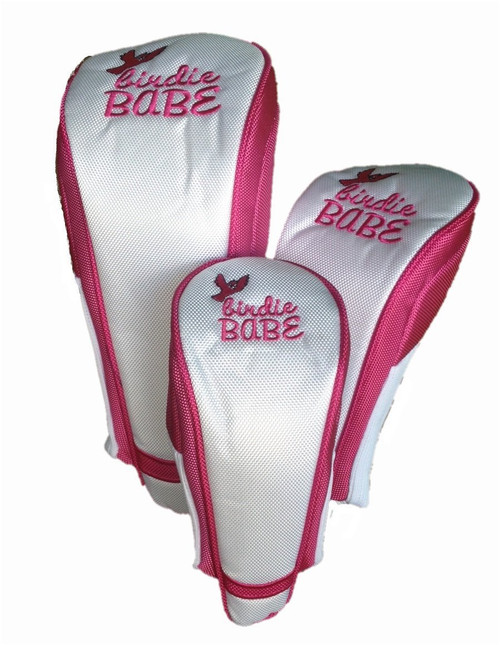 Birdie Babe White and Pink Club Cover Set