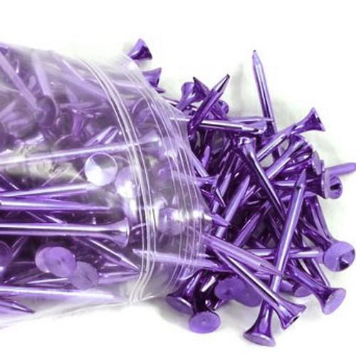 Purple Metallic Golf Tees