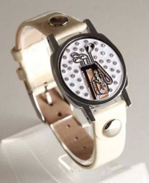 Golf Bag Ball Marker Bracelet with Ivory Band