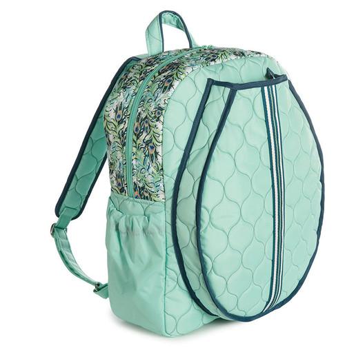 cinda b Purely Peacock Tennis Backpack