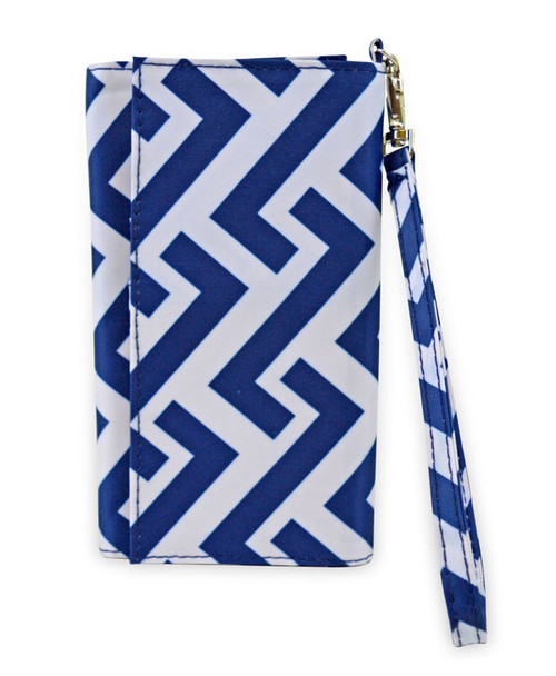 All For Color Nautical Tide ID Wristlet