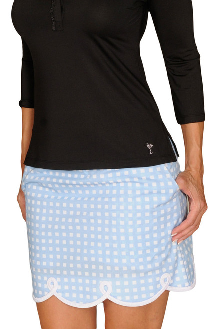Golftini Shirley Temple Blue Golf Skort