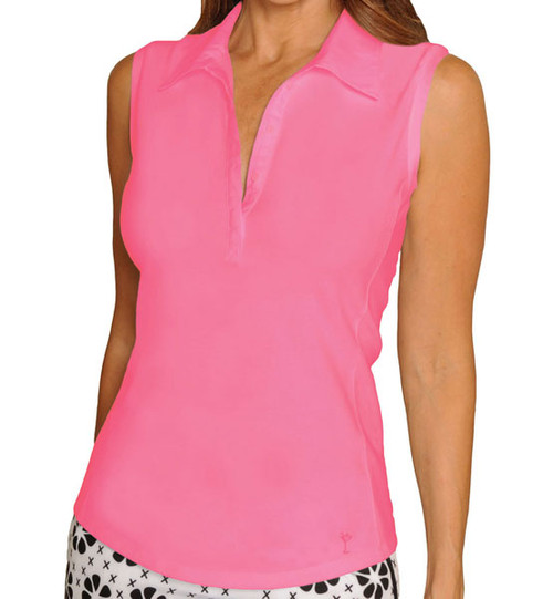 Golftini Classic Hot Pink Sleeveless Polo
