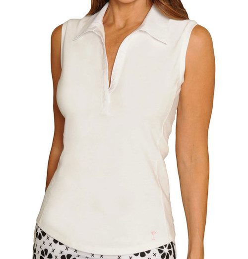 Golftini Classic White Sleeveless Polo