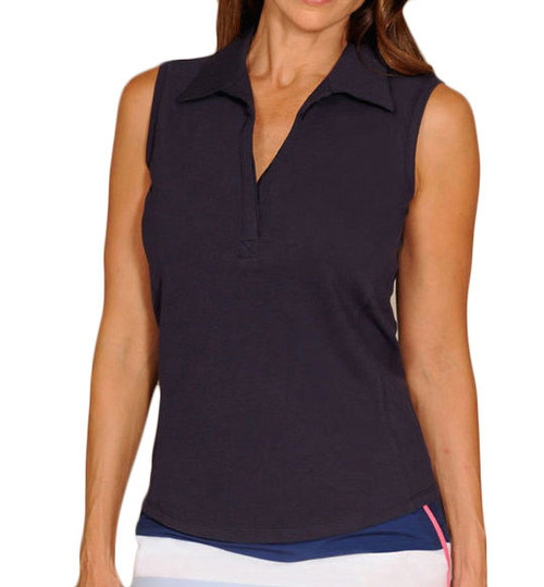 Golftini Classic Navy Blue Sleeveless Polo