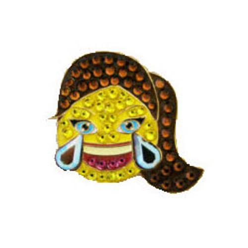 Bonjoc LOL Emoji Swarovski Crystal Ball Marker