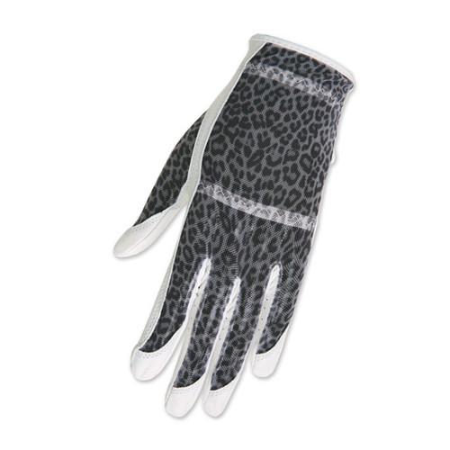 HJ Glove Solaire White Leopard Ladies Golf Glove