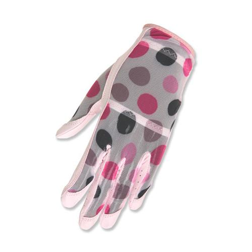 HJ Glove Solaire Pink Polka Dot Ladies Golf Glove