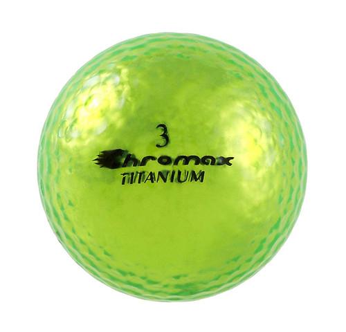 Chromax Metallic Green Golf Balls - Pack of 6 Golf Balls