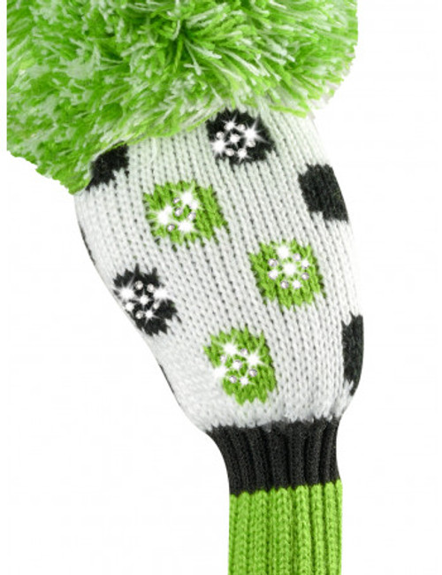 Just4Golf Sparkle Green & Black Dot Hybrid Cover