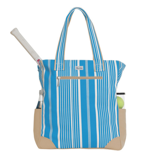 Ame & Lulu Emmerson Ladies Tennis Tote Bag - Ticking Stripe