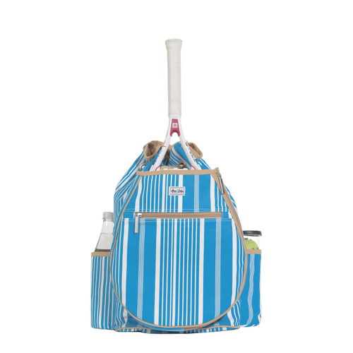 Ame & Lulu Kingsley Tennis Backpack - Ticking Stripe