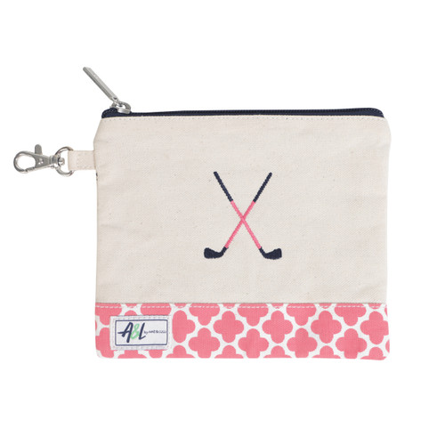 A&L Clover Crossed Clubs Golf Tee Bag