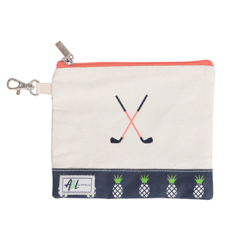 A&L Pineapple Crossed Clubs Golf Tee Bag