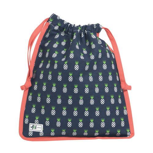 A&L Pineapple Drawstring Shoe Bag