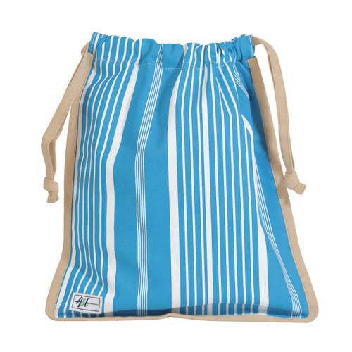 A&L Ticking Stripe Drawstring Shoe Bag