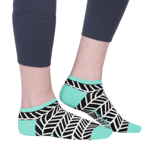 Ame & Lulu Black Shutters Athletic Socks