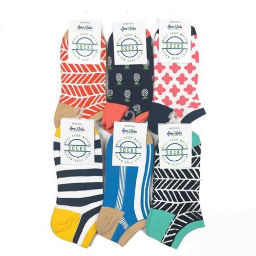 Ame & Lulu Athletic Socks - 6 Pack