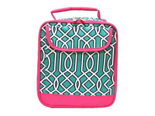 All For Color Turq Twist Lunch Tote