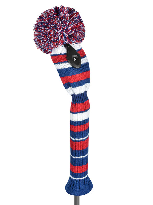 Just4Golf Red, White & Blue Varigated Stripe Fairway Cover