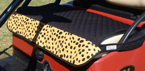 Quilted Fade Resistant Wild Thing Print Cart Seat Cover