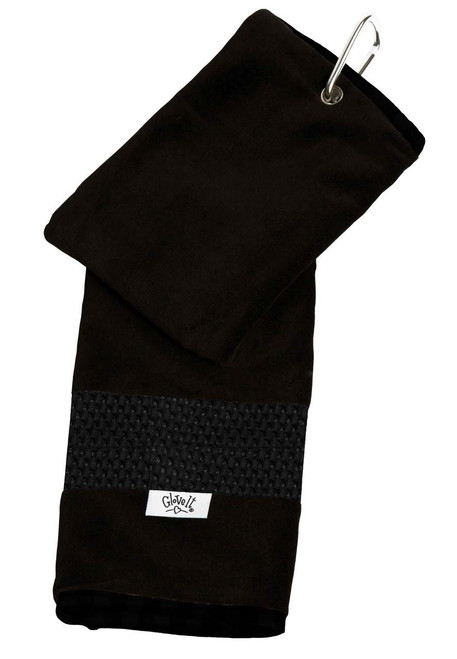 Glove It Black Mesh Ladies Golf Towel