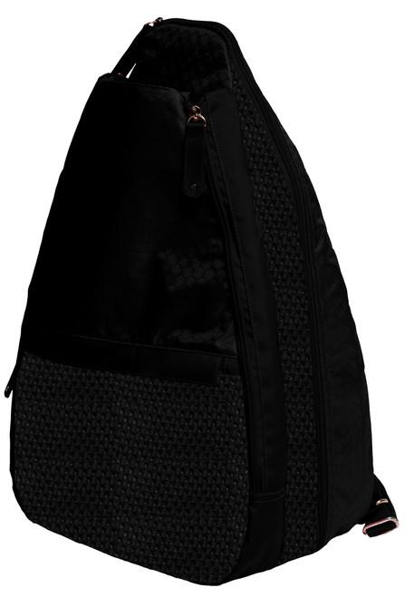 Glove It Black Mesh Tennis Backpack