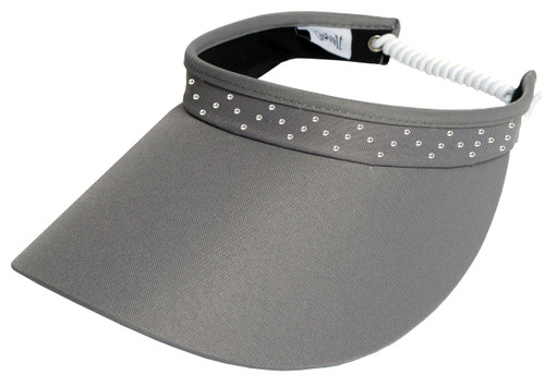 Glove It Grey Bling Coil Visor