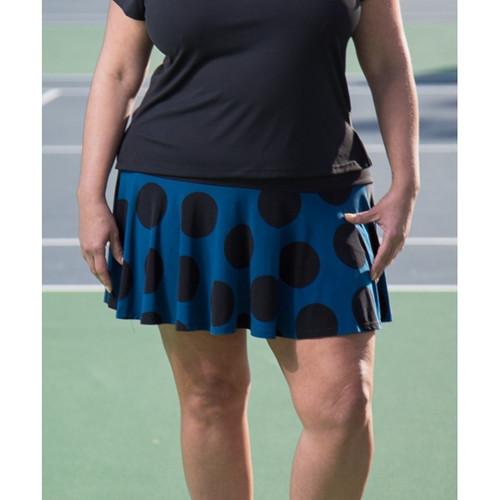 FestaSports Pacific Blue Polka Dot Flounce Tennis Skort