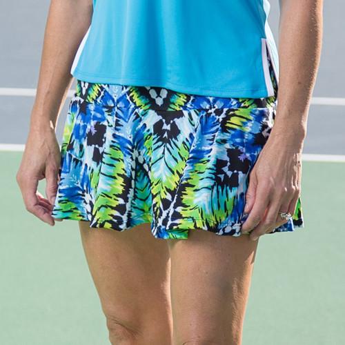 FestaSports Mediterranean Print Flounce Tennis Skort