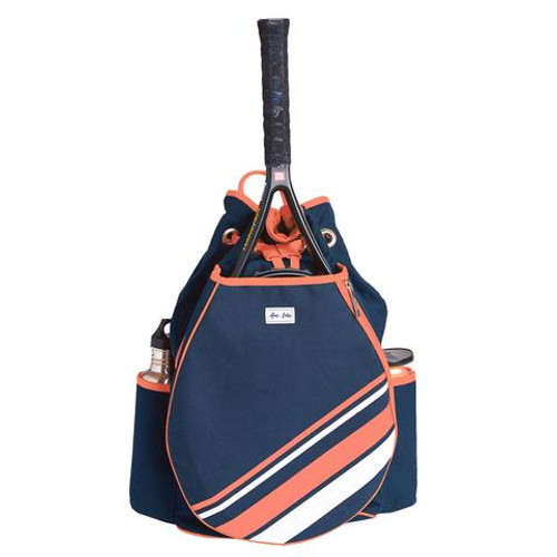 Ame & Lulu Parker Tennis Backpack - Coral Stripe