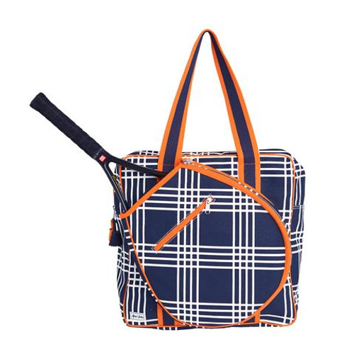 Ame & Lulu Icon Tennis Bag - Abbey Plaid