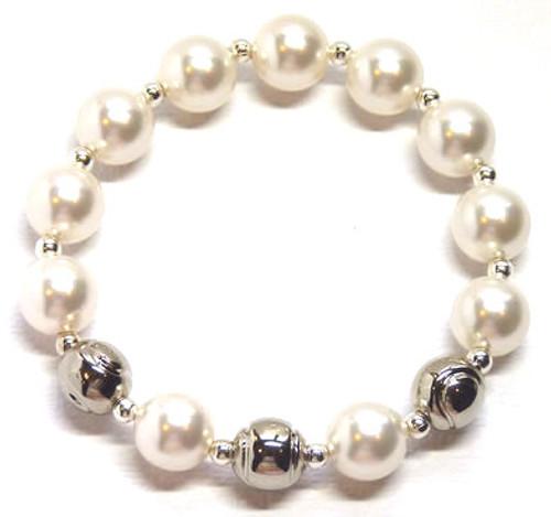Sporty Chic Pearl Tennis Bracelet