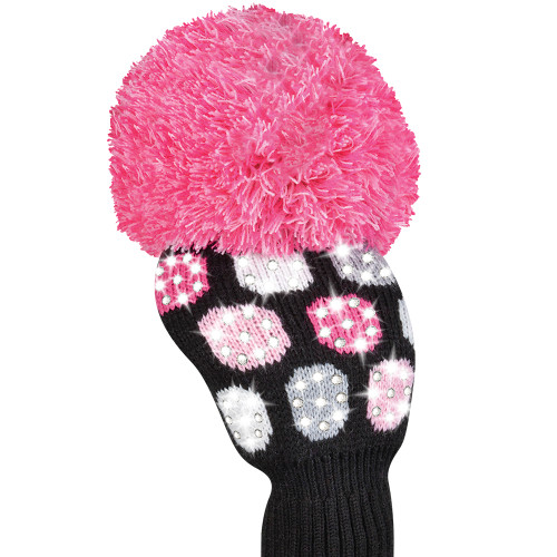 Just4Golf Sparkle Pink Polka Dot Driver Cover