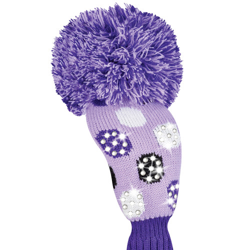 Just4Golf Sparkle Purple Polka Dot Fairway Cover