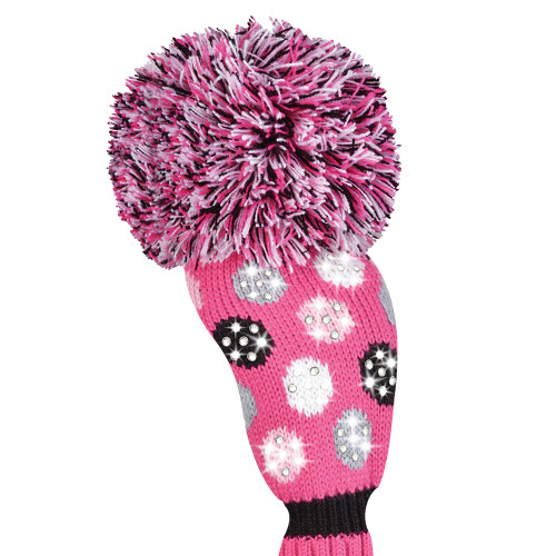 Just4Golf Sparkle Pink Polka Dot Fairway Cover