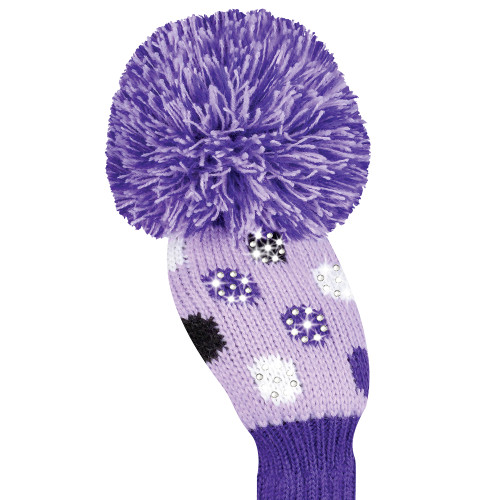 Just4Golf Sparkle Purple Polka Dot Hybrid Cover