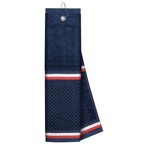 Just4Golf Navy Ribbon Golf Towel