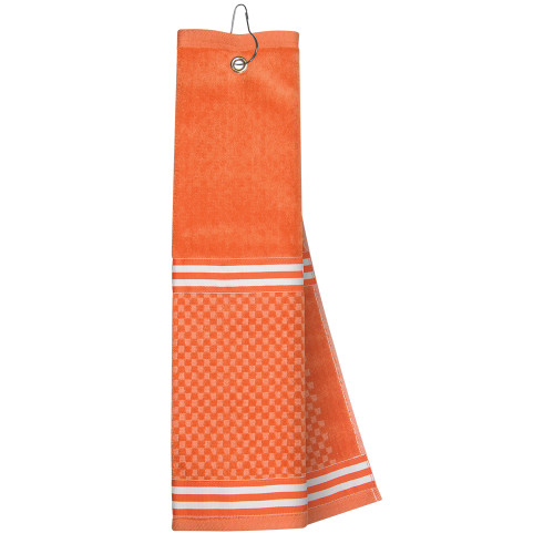 Just4Golf Orange Ribbon Golf Towel