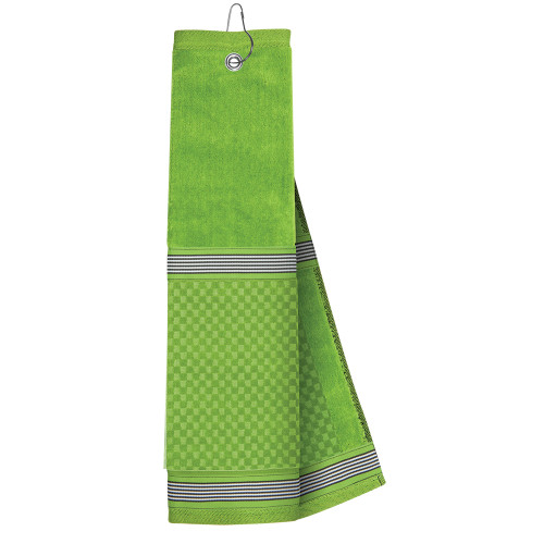 Just4Golf Green Ribbon Golf Towel