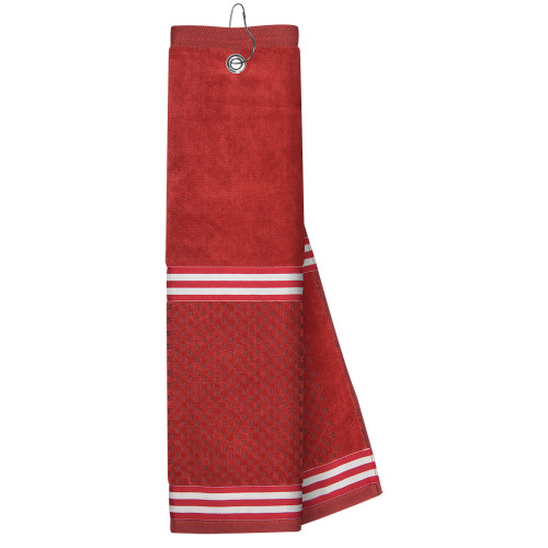 Just4Golf Red Ribbon Golf Towel