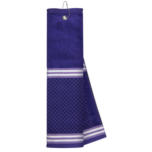 Just4Golf Purple Ribbon Golf Towel