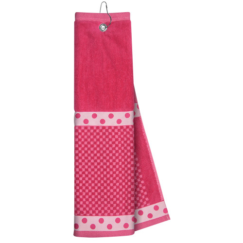 Just4Golf Pink Ribbon Golf Towel