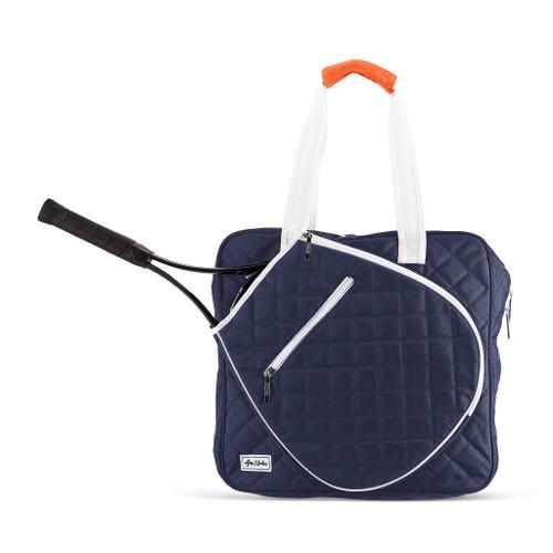 Ame & Lulu Sweet Spot Tennis Bag - Navy & White