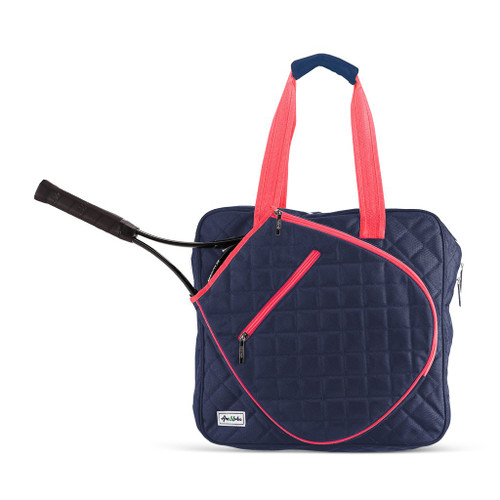 Ame & Lulu Sweet Spot Tennis Bag - Navy & Pink